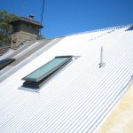 install a new skylight in corrugated iron roof